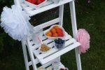 Candybar: Sommerliche Obstbar mit Beeren und Deko in rosa weiß grau