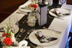 tischdeko in schwarz weiß – Zauberfee – Hochzeiten, Events & freie Reden
